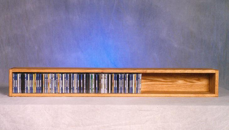 Solid Oak Wall or Shelf Mount CD Cabinet. Picture 1