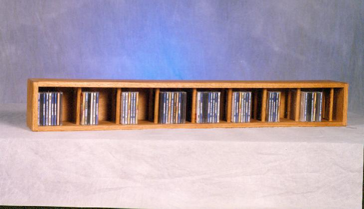 Solid Oak Wall or Shelf Mount CD Cabinet. Picture 1