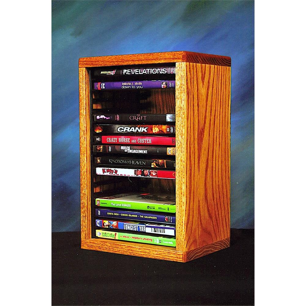 Solid Oak desktop or shelf DVD Cabinet (Individual Locking Slots). Picture 1