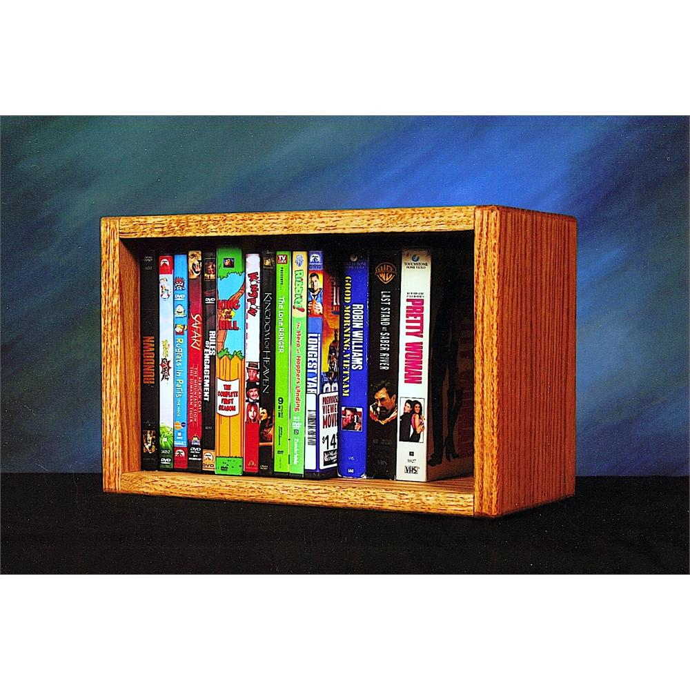 Solid Oak Desktop Or Shelf Dvd Vhs Cabinet