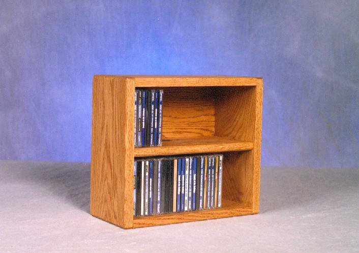 Solid Oak desktop or shelf CD Cabinet. Picture 1