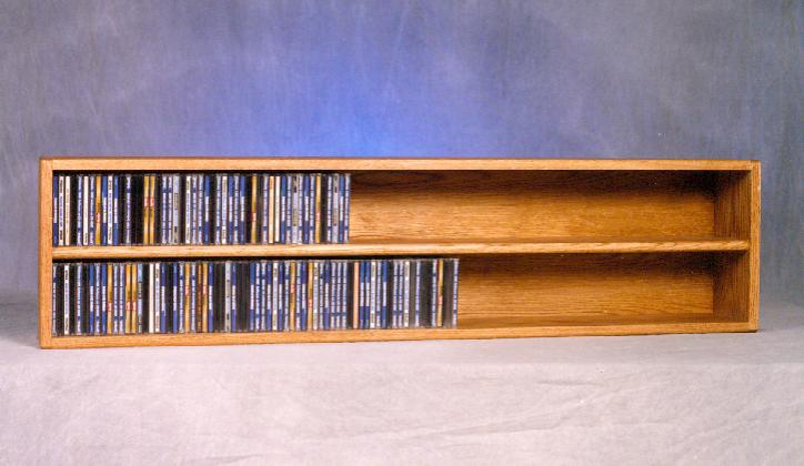 Solid Oak Wall or Shelf Mount CD Cabinet. The main picture.