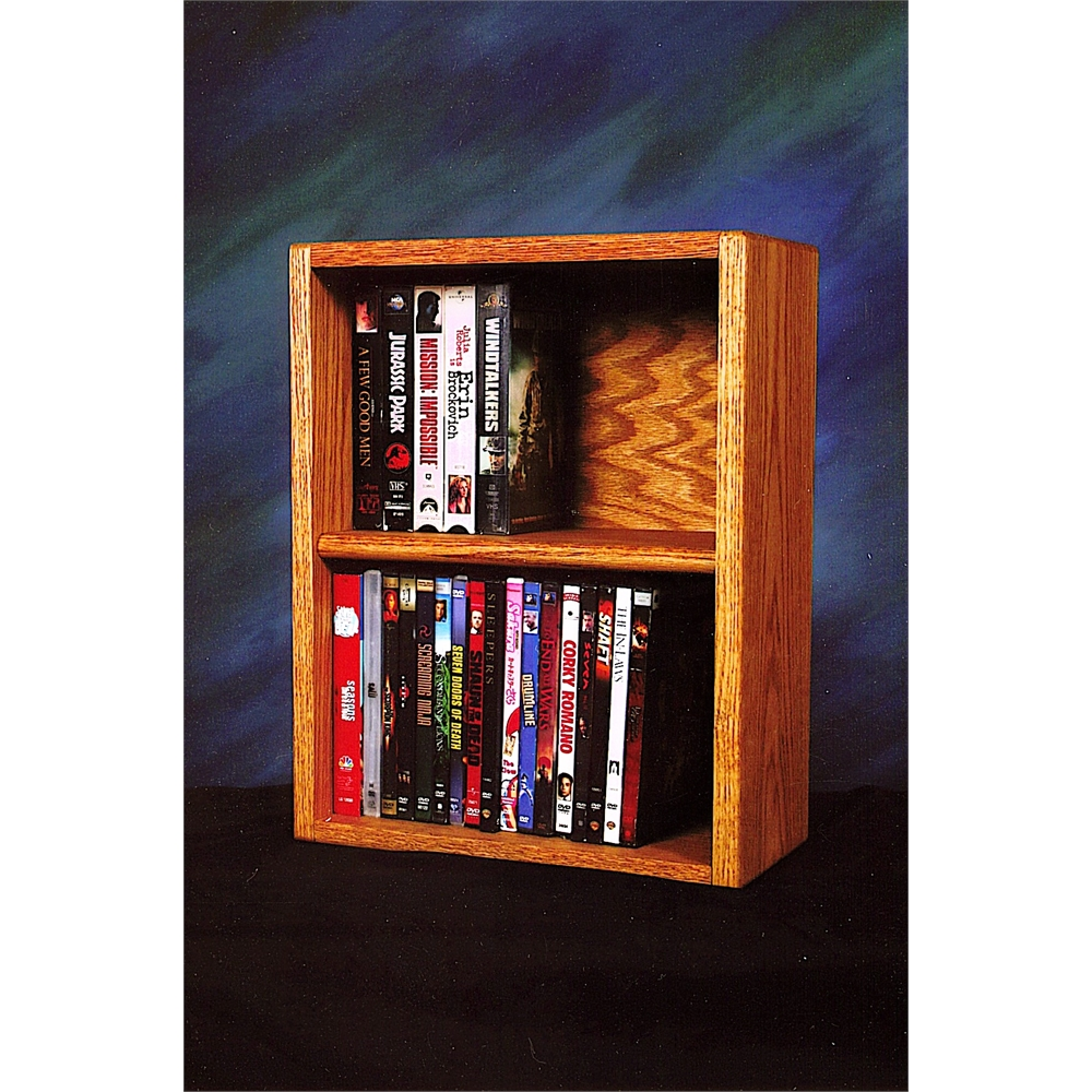 Solid Oak desktop or shelf DVD/ VHS Cabinet. Picture 1