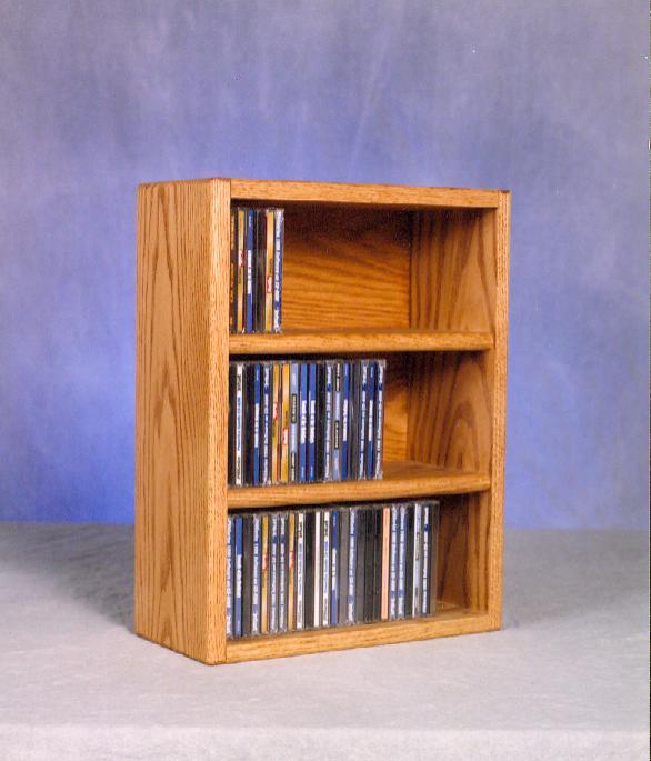 Solid Oak desktop or shelf CD Cabinet. Picture 1