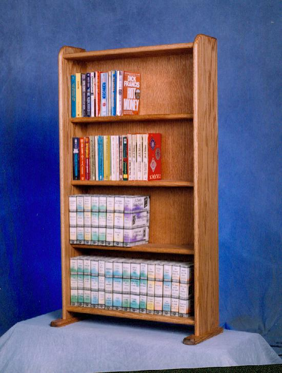 Solid Oak Cabinet for DVD's, VHS tapes, books and more. Picture 1