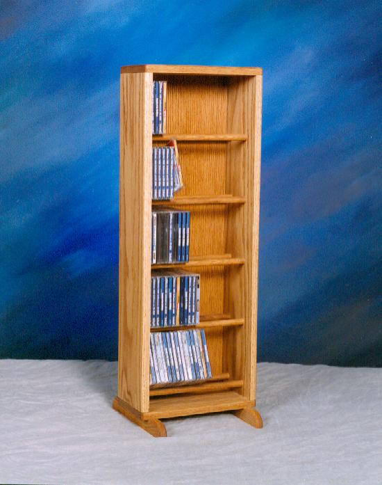 Solid Oak Dowel Cabinet for CD's. Picture 1