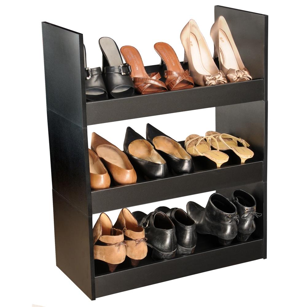 Stackable Shoe Racks 24 X 12 X 10 Black