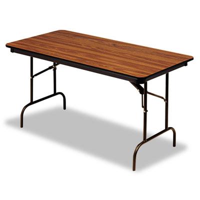 "Iceberg Premium Wood-Laminate Folding Table, 30"" x 72"", Oak. Picture 1"