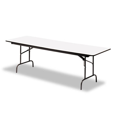 "Iceberg Premium Wood-Laminate Folding Table, 30"" x 72"", Gray. Picture 1"