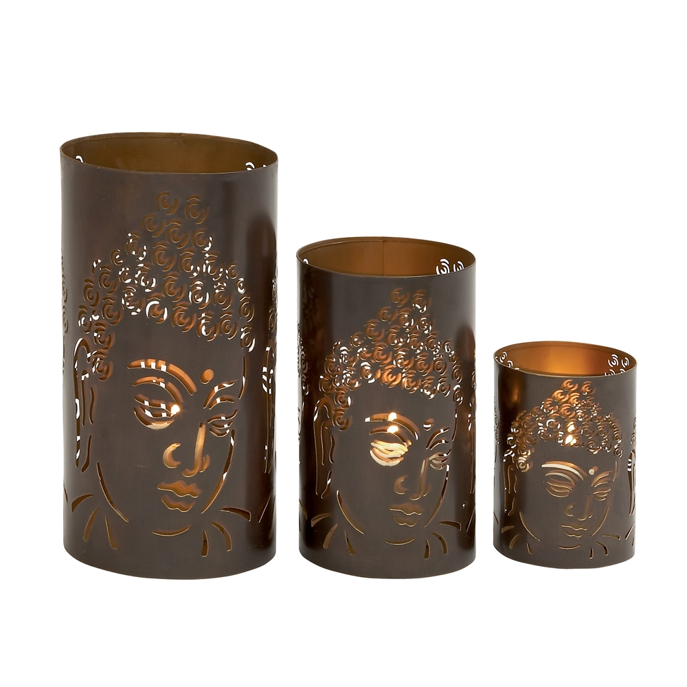 Ravishing set of three metal candle holders for Kitchen cabinets lowes with candle holder tree