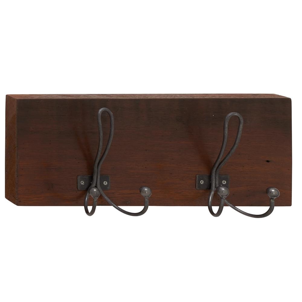 Benzara Polished Wood Metal Wall Hook