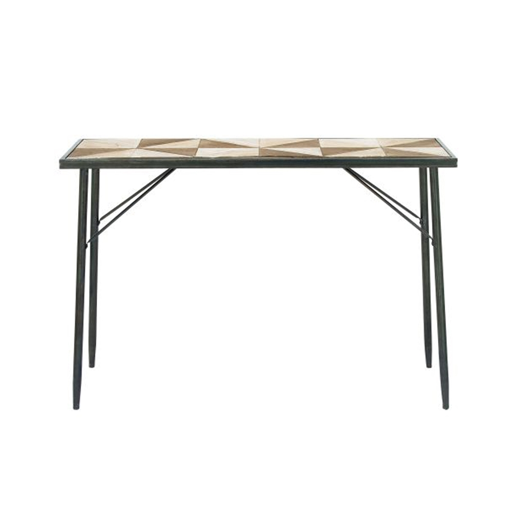 Elegant wood metal console table for Metal and wood console tables
