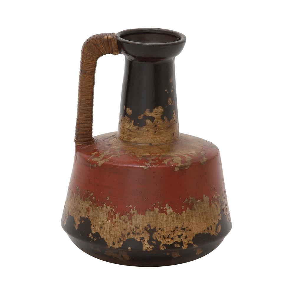 Marvellous Ceramic Rattan Handle Pot 10 Quot W 12 Quot H