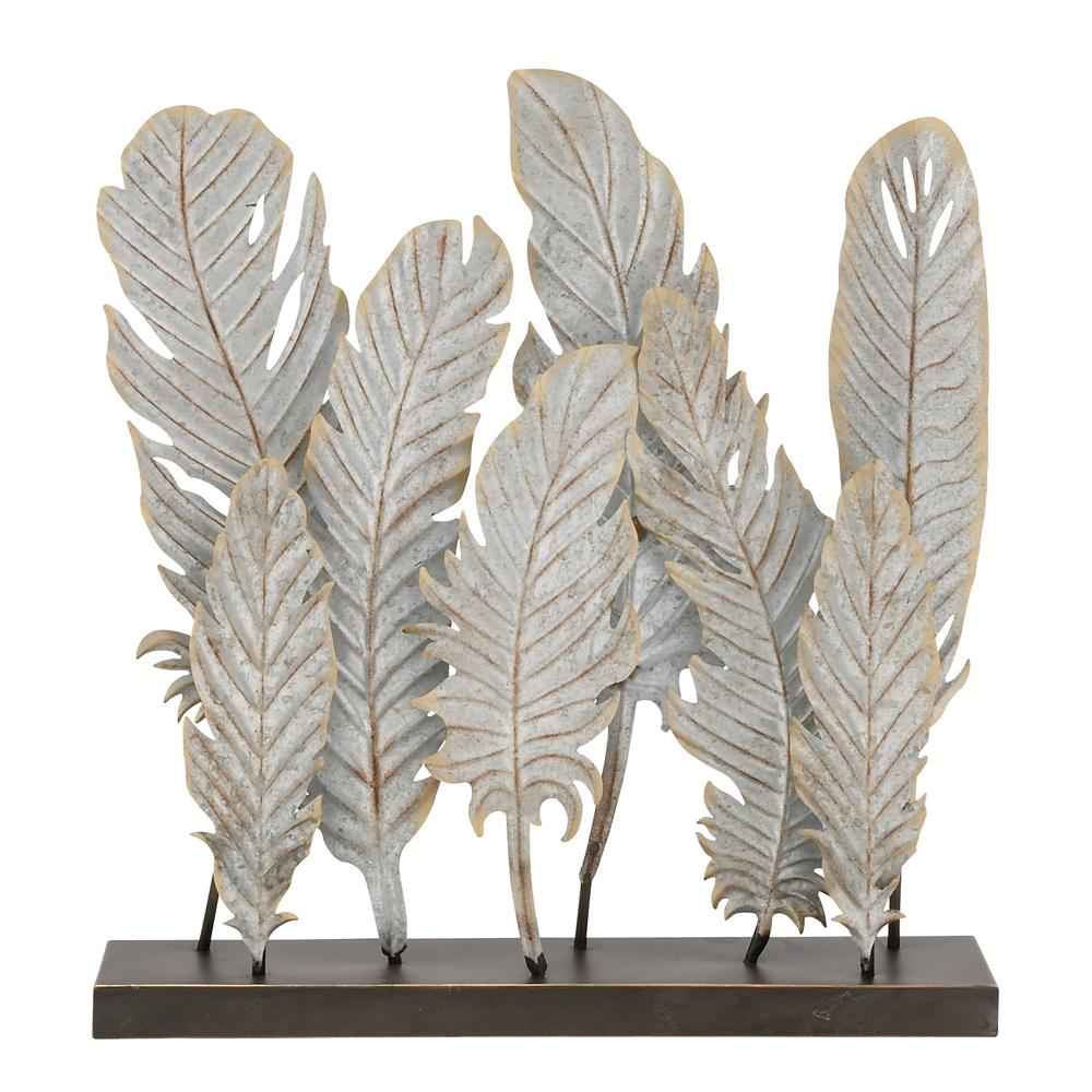 Simple Metal Feather Decor