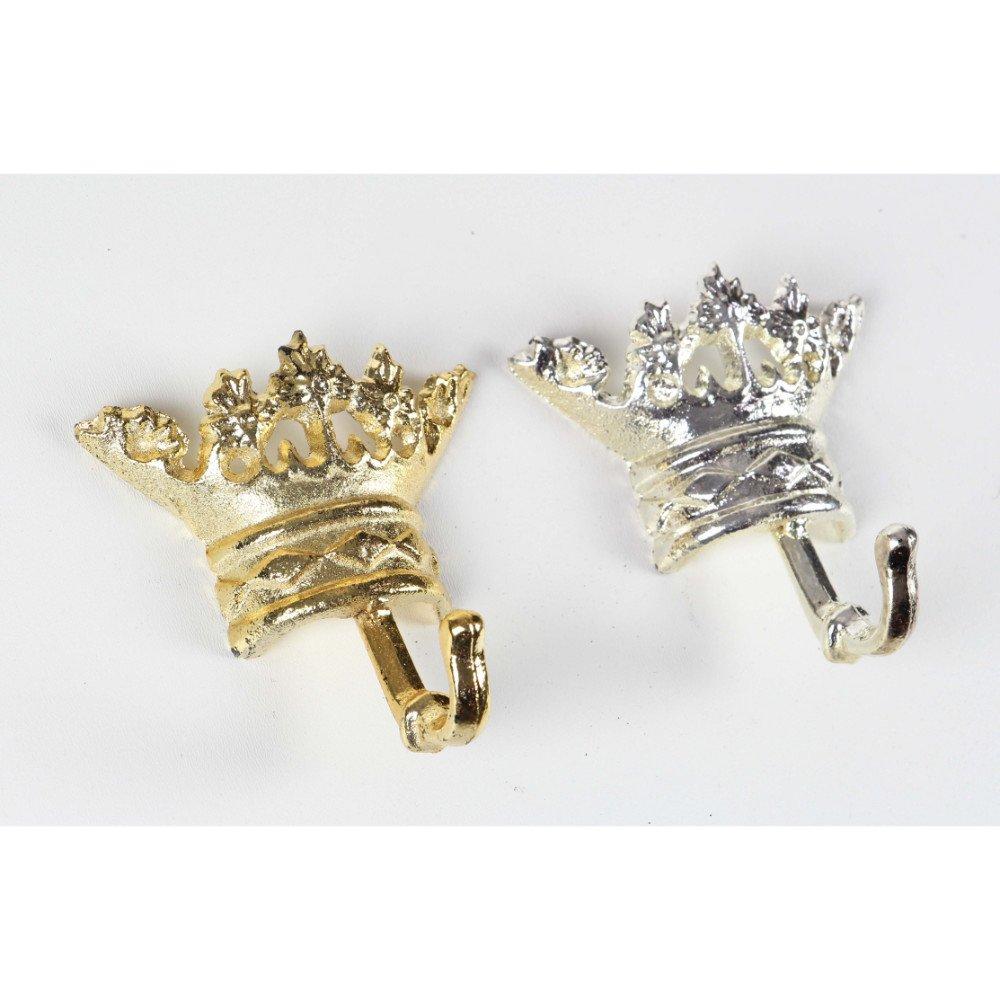 Coronal Shape Radiant Metallic Wall Hook Assorted 2