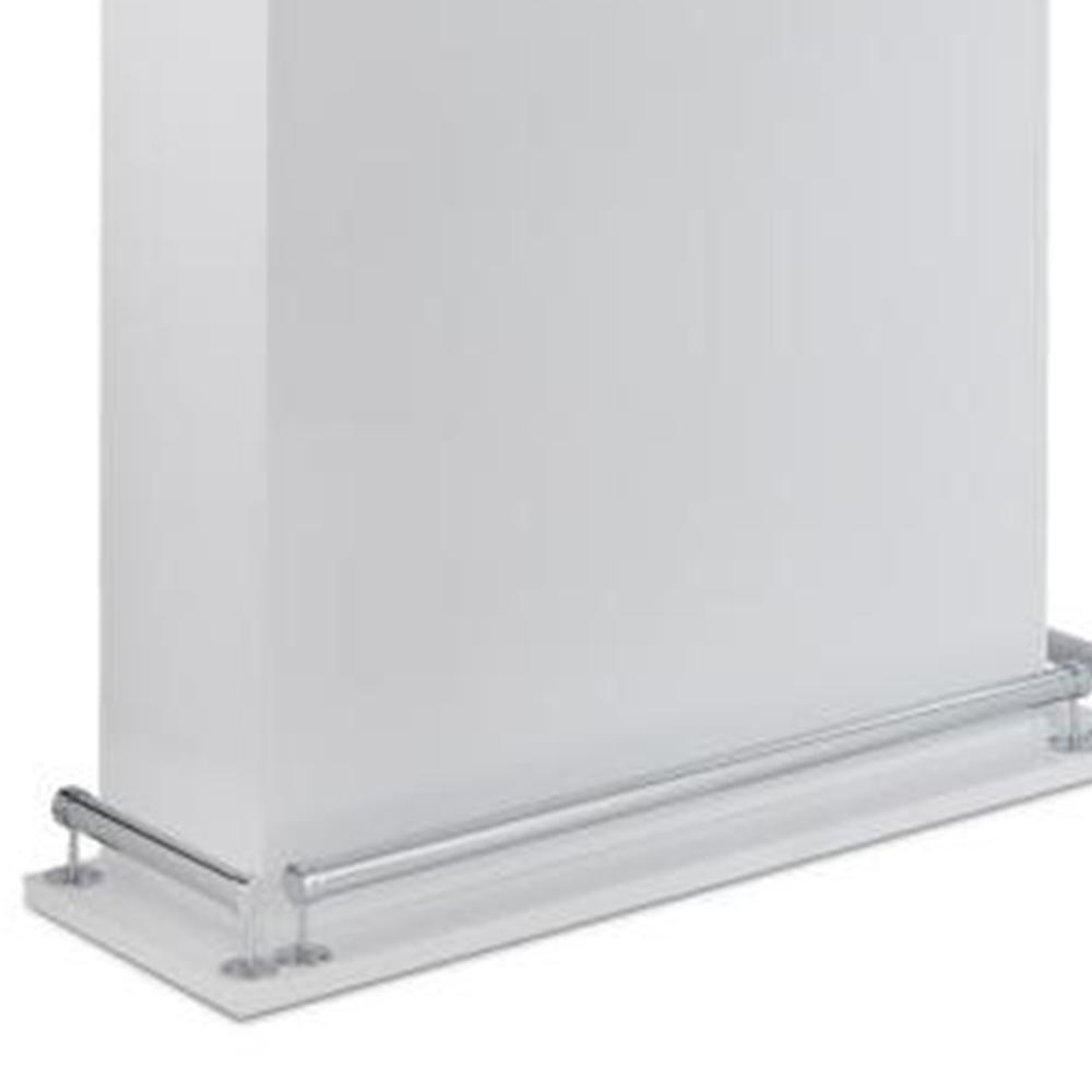 Modish Bar Table, White High Gloss