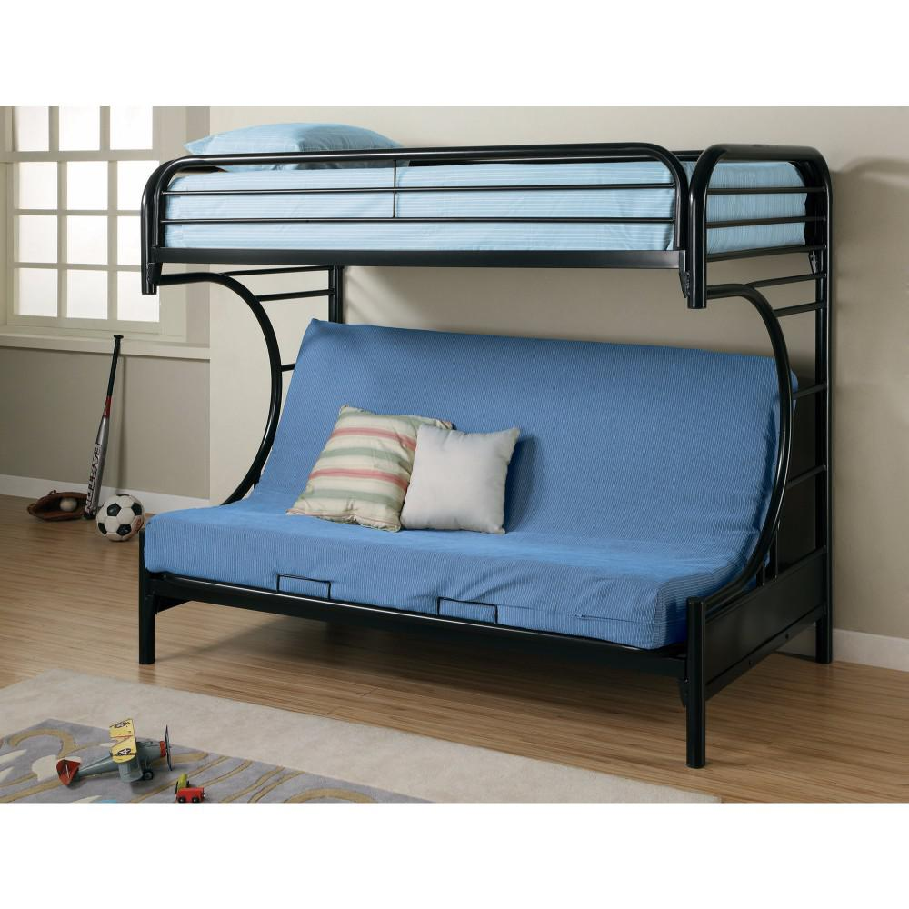 Casual Style Twin Over Futon Bunk Bed