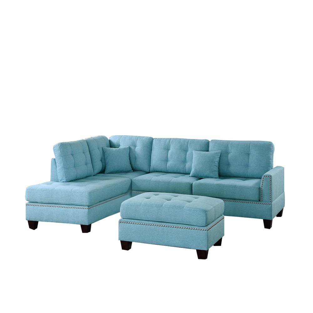 Palermo 2 Pc Sectional Sofa With Chaise Baci Living Room