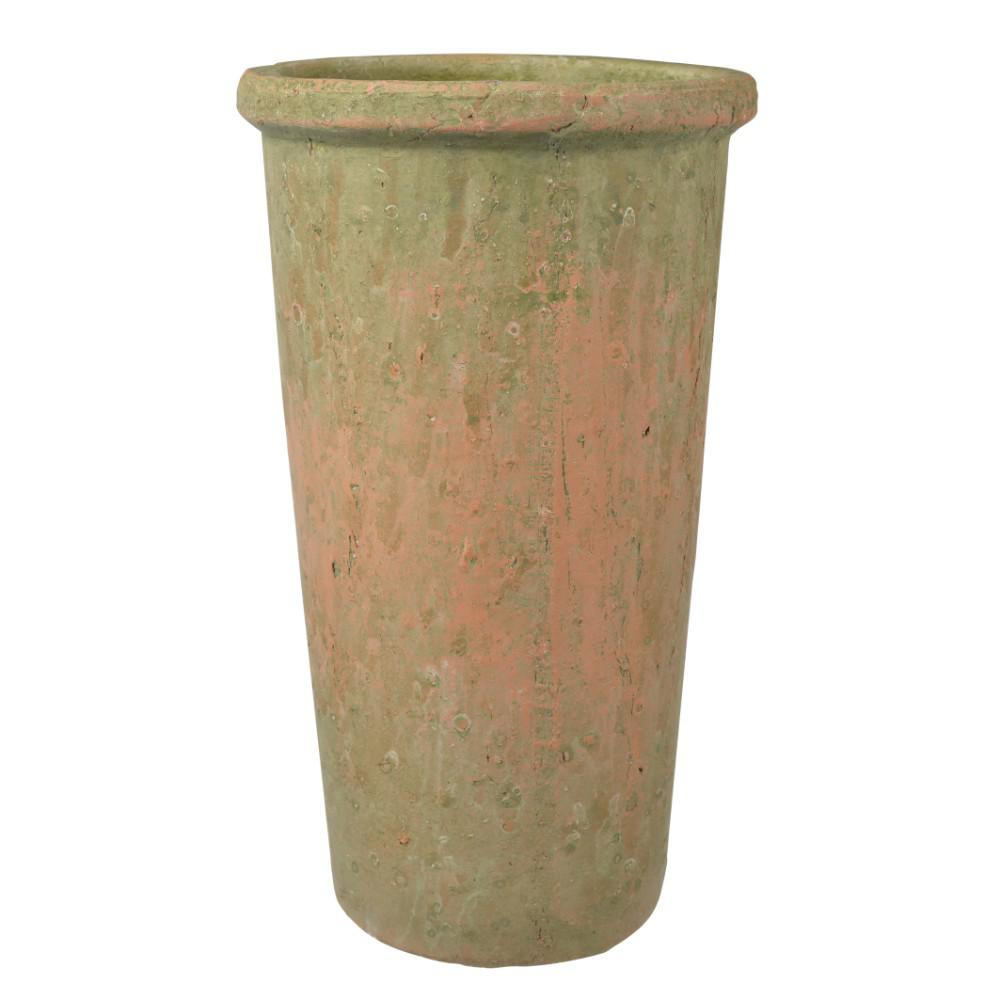 Long Thin Planters: Long Ceramic Planter With Narrow Bottom, Brown