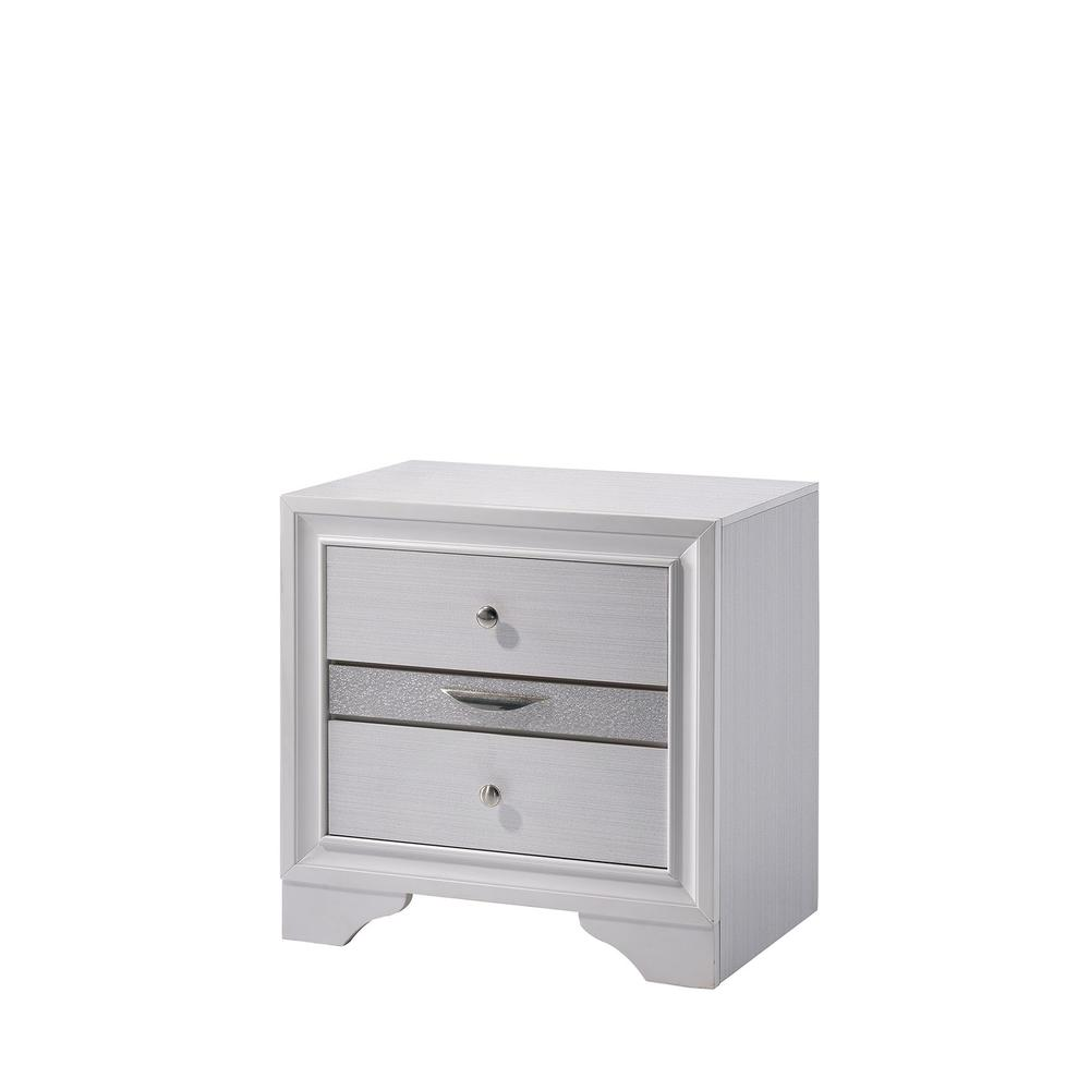 Contemporary Solid Wood Night Stand With Jewelry Drawers