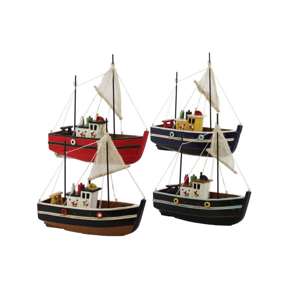 Resin Boats Assortment Of Four