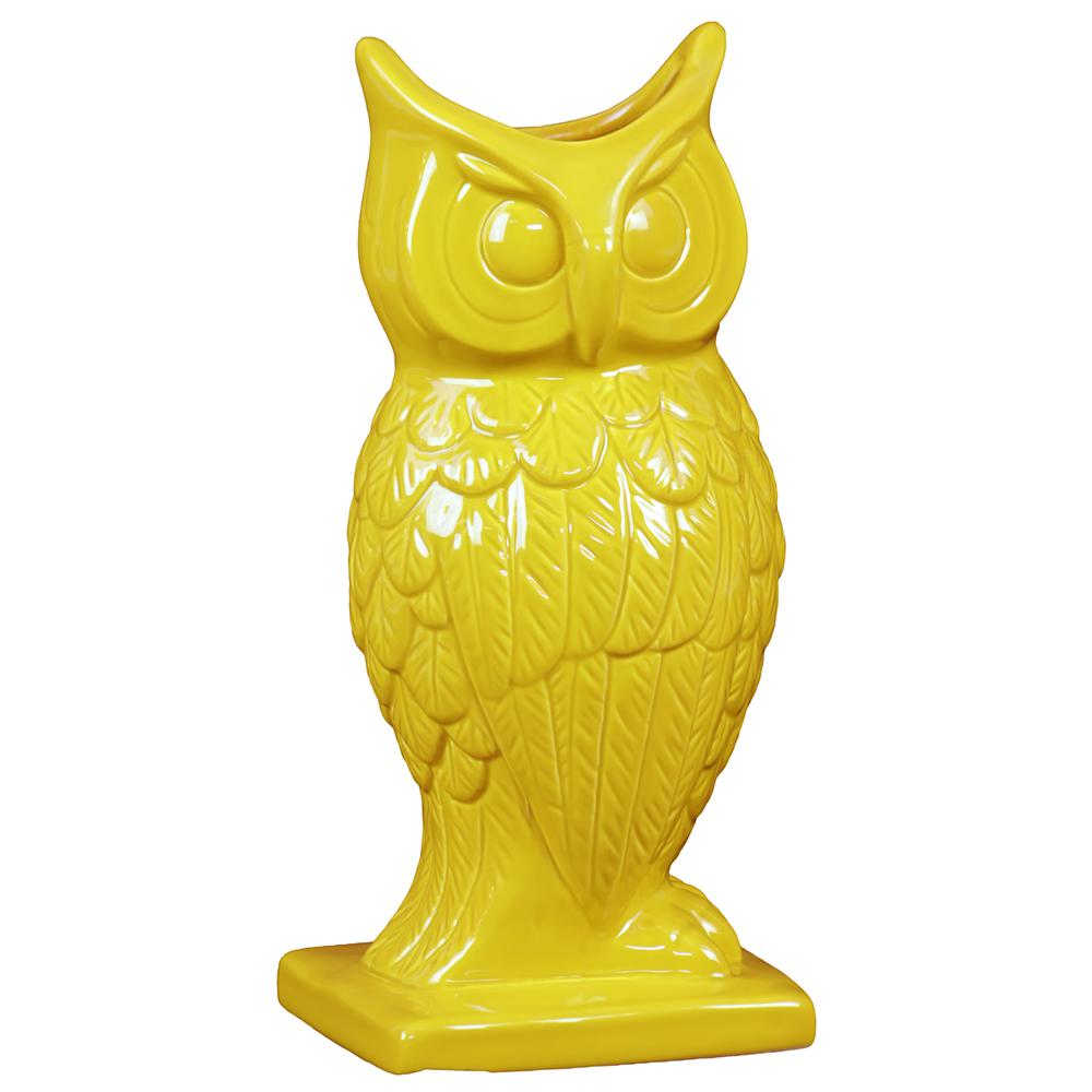Spectacular Magnificent Ceramic Owl Figurine Vase In