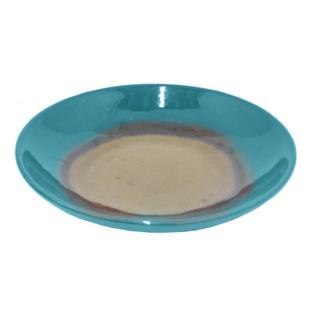 Benzara 12 Quot Teal Ceramic Plate