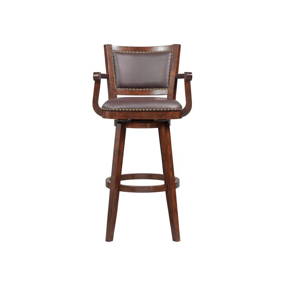 Broadmoor Swivel Extra Tall Bar Stool Cappuccino. Picture 1