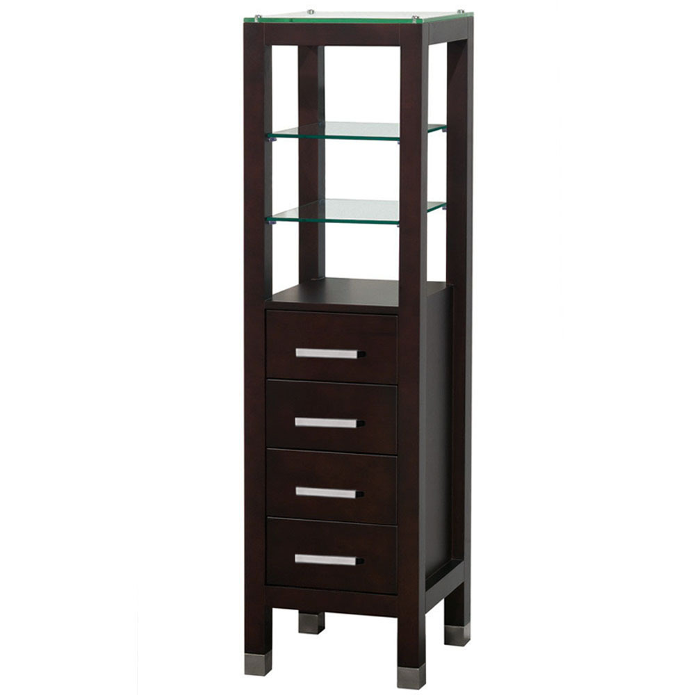 Cuba 15 5 Quot Bathroom Storage Linen Tower Espresso
