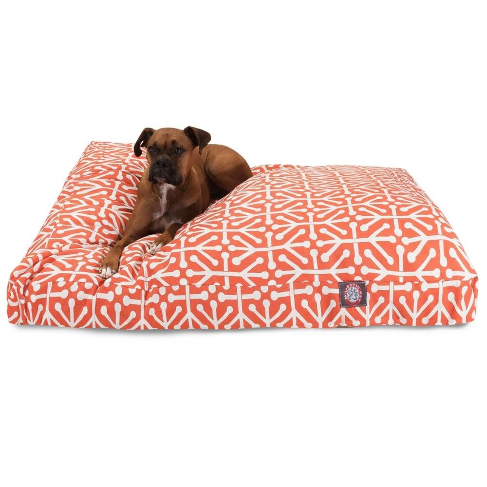 Orange Aruba Extra Large Rectangle Pet Bed
