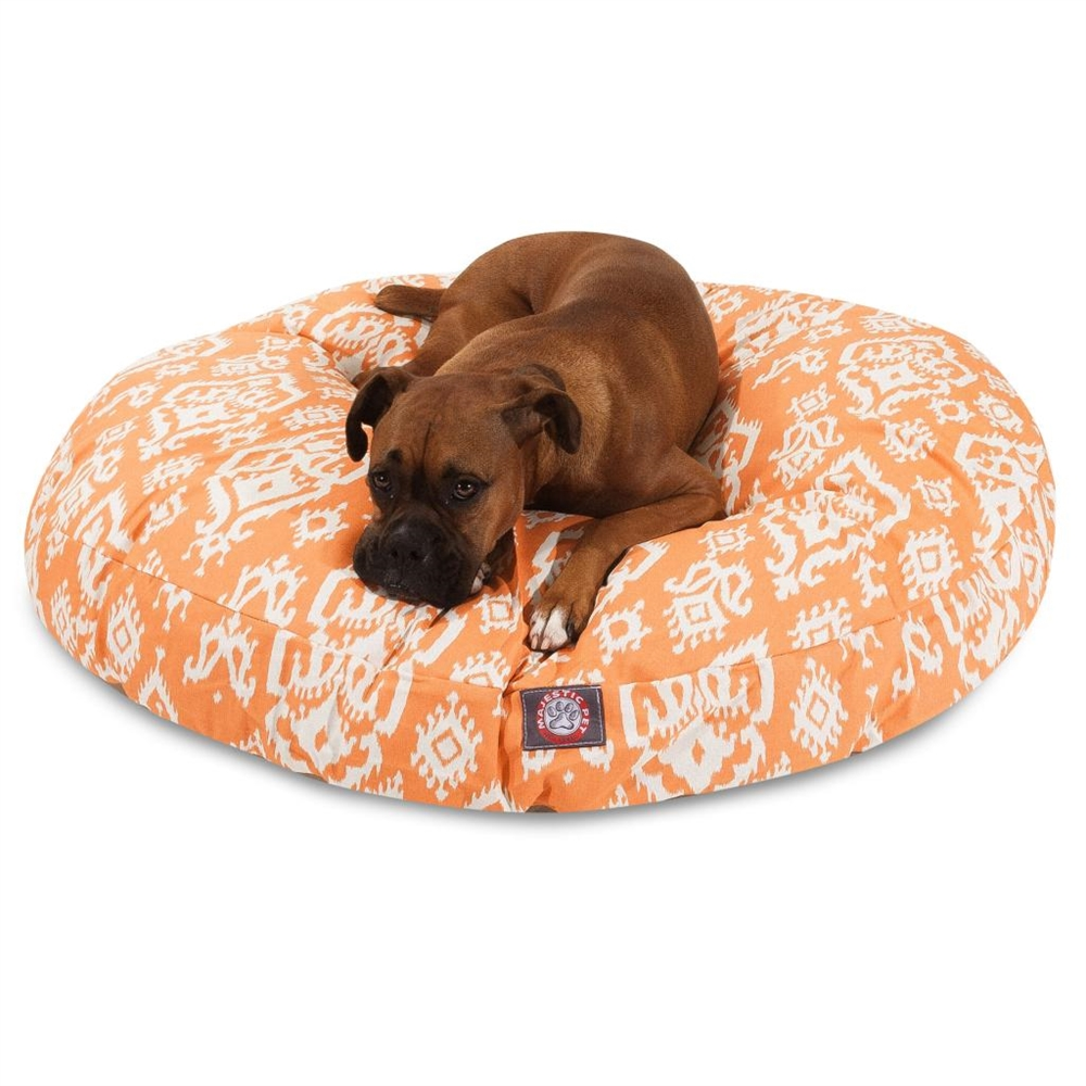 Large Round Dog Bed Peach Raja Large Round Pet Bed