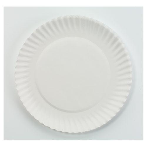 """White Paper Plates, 6"""" dia, 100/Pack, 10 Packs/Carton. Picture 1"""