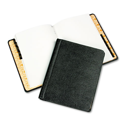 Corp Record/Minute Book Complete Outfit, Black, 75 Unruled Pages, 8 1/2 x 11. Picture 1