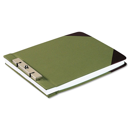 """Canvas Sectional Storage Post Binder, 2 Posts, 3"""" Capacity, 8.5 x 11, Green. Picture 2"""