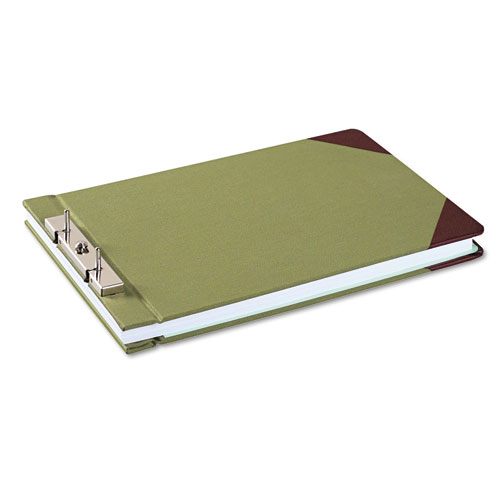 """Canvas Sectional Storage Post Binder, 2 Posts, 3"""" Capacity, 8.5 x 14, Green. Picture 2"""
