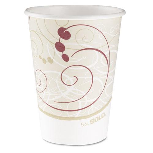 Hot Cups, Symphony Design, 12oz, Beige, 50/Pack. Picture 1
