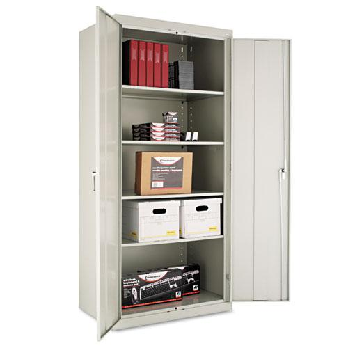 """Assembled 78"""" High Storage Cabinet, w/Adjustable Shelves, 36w x 24d, Light Gray. Picture 1"""