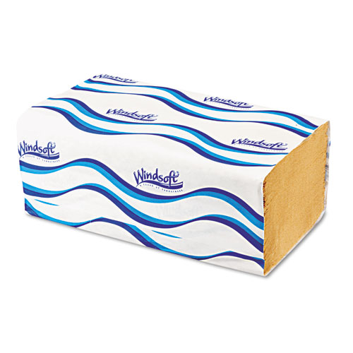 Embossed Singlefold Towels, 9 3/10 x 10 1/2, Natural, 250/Pack, 16 Packs/Carton. Picture 2