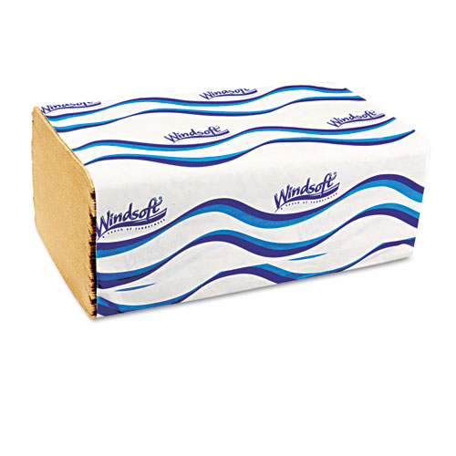Embossed Singlefold Towels, 9 3/10 x 10 1/2, Natural, 250/Pack, 16 Packs/Carton. Picture 4