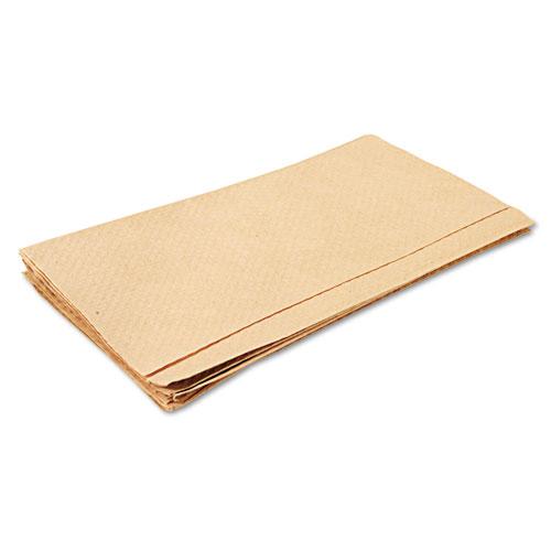 Embossed Singlefold Towels, 9 3/10 x 10 1/2, Natural, 250/Pack, 16 Packs/Carton. Picture 6