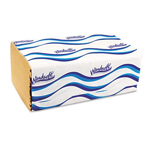 Embossed Singlefold Towels, 9 3/10 x 10 1/2, Natural, 250/Pack, 16 Packs/Carton. Picture 1