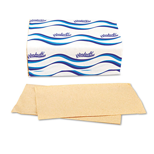 Embossed Singlefold Towels, 9 3/10 x 10 1/2, Natural, 250/Pack, 16 Packs/Carton. Picture 11