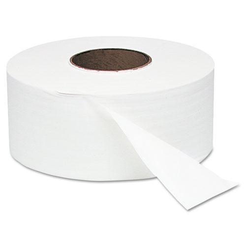 """Jumbo Roll Bath Tissue, Septic Safe, 2 Ply, White, 3.4"""" x 1000 ft, 12 Rolls/Carton. Picture 1"""