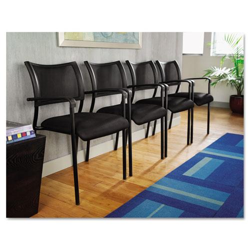 Alera Eikon Series Stacking Mesh Guest Chair, Black Seat/Black Back, Black Base, 2/Carton. Picture 5