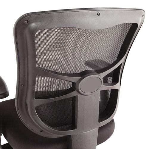 Alera Elusion Series Mesh Mid-Back Multifunction Chair, Supports up to 275 lbs, Black Seat/Black Back, Black Base. Picture 2