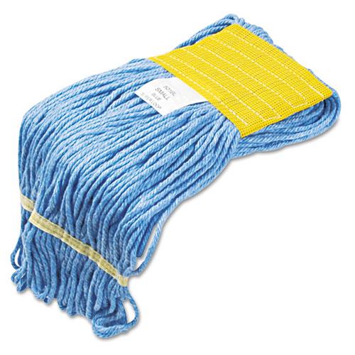 "Super Loop Wet Mop Head, Cotton/Synthetic Fiber, 5"" Headband, Small Size, Blue, 12/Carton. Picture 2"