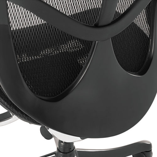 Alera EQ Series Ergonomic Multifunction Mid-Back Mesh Chair, Supports up to 250 lbs., Black Seat/Black Back, Black Base. Picture 4
