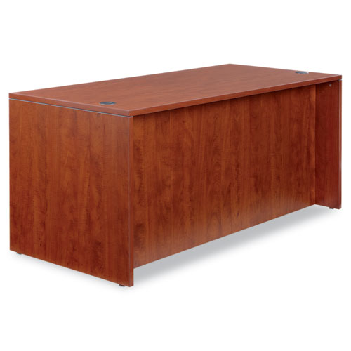 "Alera Valencia Series Straight Front Desk Shell, 65"" x 29.5"" x 29.63"", Medium Cherry. Picture 4"