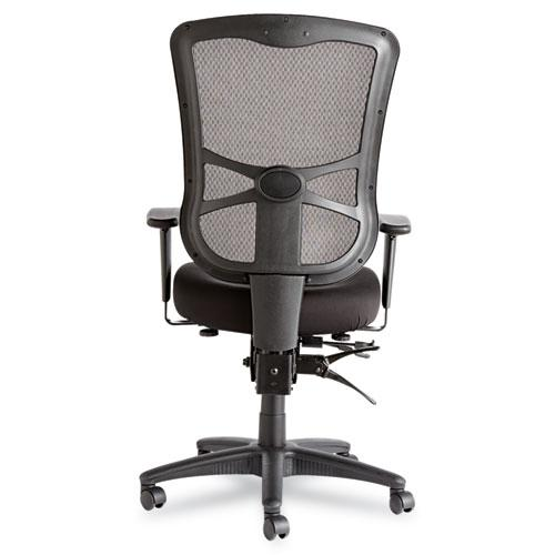 Alera Elusion Series Mesh High-Back Multifunction Chair, Supports up to 275 lbs, Black Seat/Black Back, Black Base. Picture 2