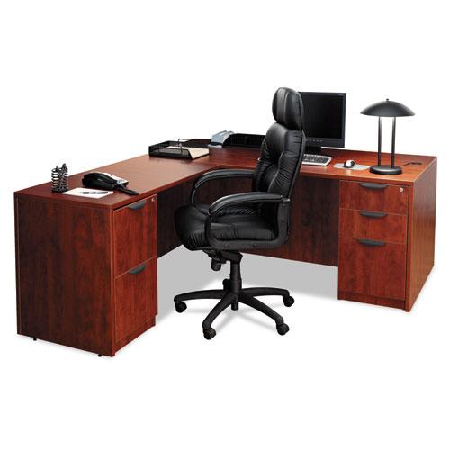"Alera Valencia Series Straight Front Desk Shell, 59.13"" x 29.5"" x 29.63"", Medium Cherry. Picture 3"